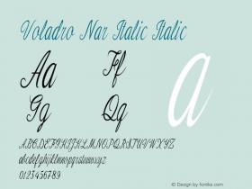 Voladro Nar Italic Italic Version 1.000图片样张