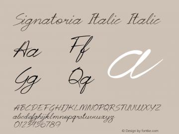Signatoria Italic Italic Version 1.000图片样张