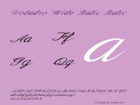Voladro Wide Italic Italic Version 1.000图片样张