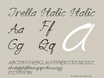 Trella Italic Italic Version 1.000图片样张