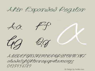 Akir Expanded Regular Version 1.000图片样张