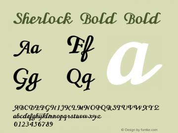 Sherlock Bold Bold Version 1.000图片样张
