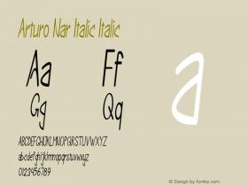 Arturo Nar Italic Italic Version 1.000图片样张