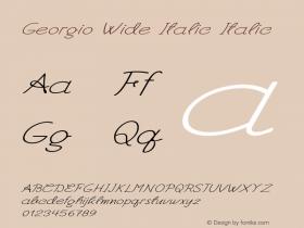 Georgio Wide Italic Italic Version 1.000图片样张