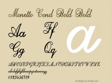 Monetto Cond Bold Bold Version 1.000图片样张