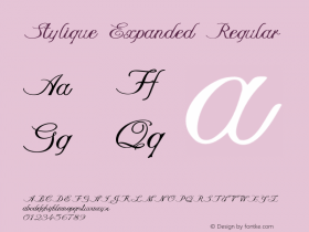 Stylique Expanded Regular Version 1.000图片样张