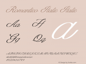 Romantico Italic Italic Version 1.000图片样张
