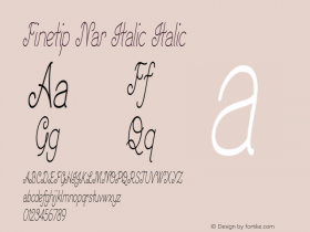 Finetip Nar Italic Italic Version 1.000图片样张