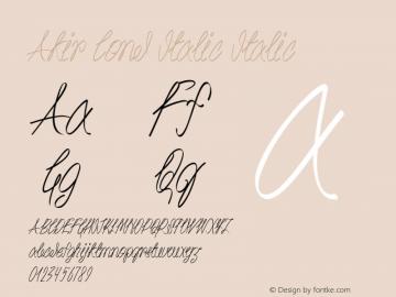 Akir Cond Italic Italic Version 1.000图片样张