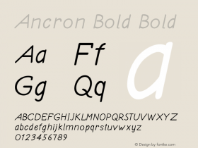 Ancron Bold Bold Version 1.000图片样张