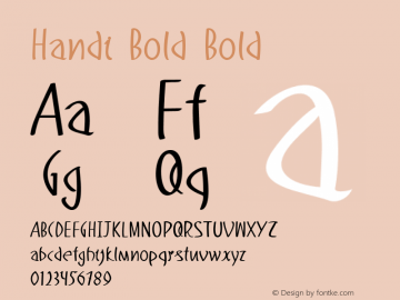 Handi Bold Bold Version 1.000图片样张
