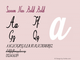 Swoon Nar Bold Bold Version 1.000图片样张
