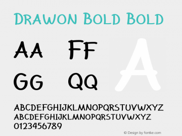 Drawon Bold Bold Version 1.000图片样张