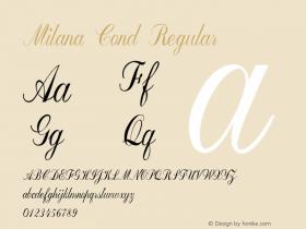 Milana Cond Regular Version 1.000图片样张