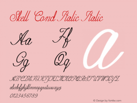Skell Cond Italic Italic Version 1.000图片样张