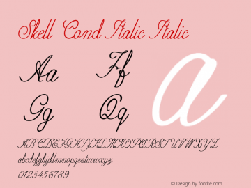 Skell Cond Italic Italic Version 1.000图片样张