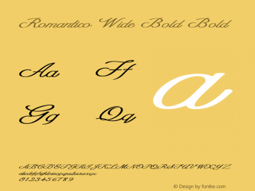 Romantico Wide Bold Bold Version 1.000图片样张