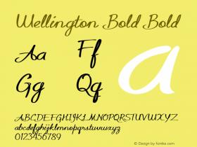 Wellington Bold Bold Version 1.000图片样张