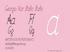 Georgio Nar Italic Italic Version 1.000图片样张