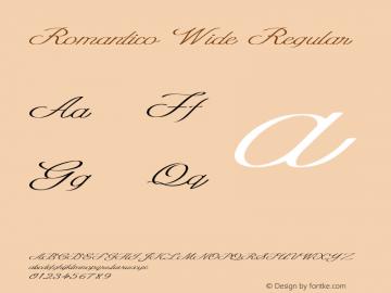 Romantico Wide Regular Version 1.000图片样张