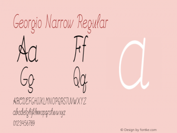 Georgio Narrow Regular Version 1.000图片样张
