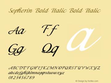 Sepherin Bold Italic Bold Italic Version 1.000图片样张