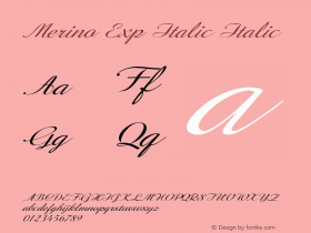 Merino Exp Italic Italic Version 1.000图片样张