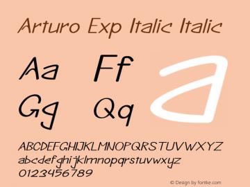 Arturo Exp Italic Italic Version 1.000图片样张