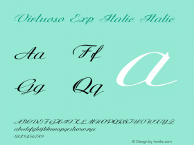 Virtuoso Exp Italic Italic Version 1.000图片样张
