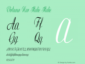 Virtuoso Nar Italic Italic Version 1.000图片样张