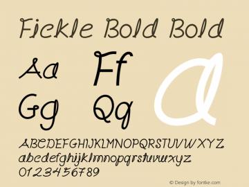 Fickle Bold Bold Version 1.000图片样张
