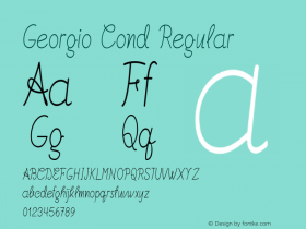 Georgio Cond Regular Version 1.000图片样张