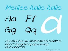 Merilee Italic Italic Version 1.500图片样张