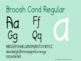 Broosh Cond Regular Version 1.000图片样张