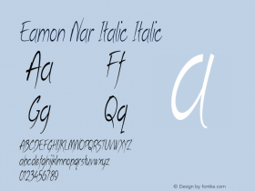 Eamon Nar Italic Italic Version 1.500图片样张