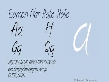 Eamon Nar Italic Italic Version 1.500图片样张
