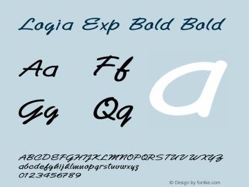 Logia Exp Bold Bold Version 1.000图片样张