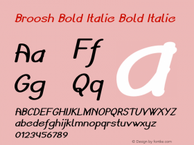 Broosh Bold Italic Bold Italic Version 1.000图片样张