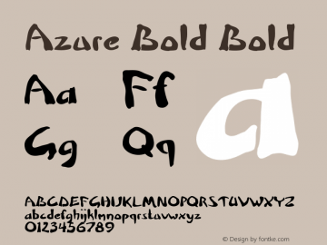Azure Bold Bold Version 1.000图片样张