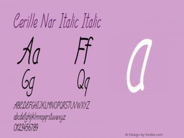 Cerille Nar Italic Italic Version 1.000图片样张