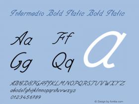 Intermedio Bold Italic Bold Italic Version 1.000图片样张