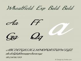 Wheatfield Exp Bold Bold Version 1.000图片样张
