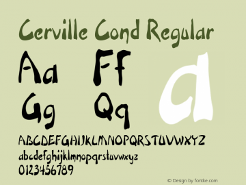 Cerville Cond Regular Version 1.000图片样张