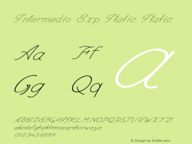 Intermedio Exp Italic Italic Version 1.000图片样张