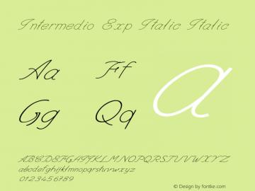 Intermedio Exp Italic Italic Version 1.000图片样张