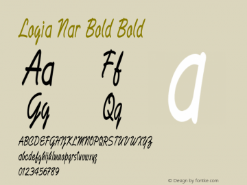 Logia Nar Bold Bold Version 1.000图片样张