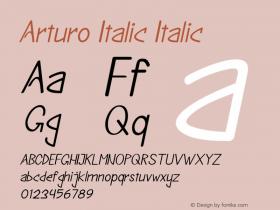 Arturo Italic Italic Version 1.000图片样张