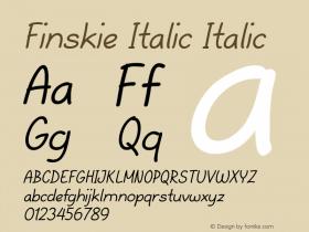 Finskie Italic Italic Version 1.000图片样张