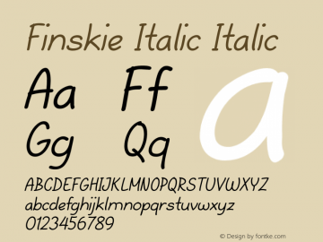 Finskie Italic Italic Version 1.000图片样张