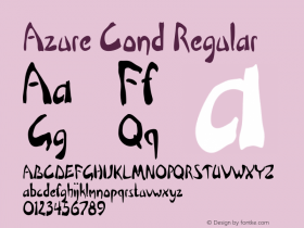 Azure Cond Regular Version 1.000图片样张